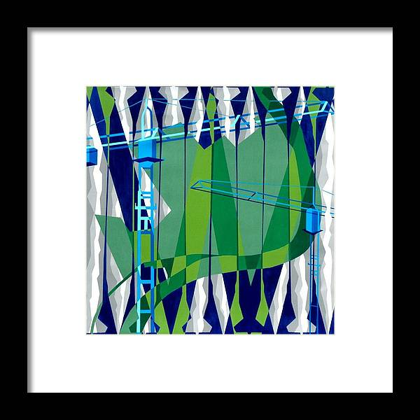 Politics Framed Print featuring the painting Entrench by Dennis McCann