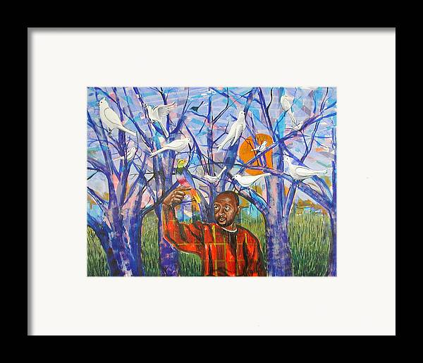 Black Framed Print featuring the painting Epiphany by Rollin Kocsis