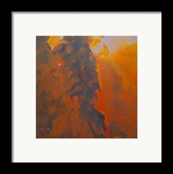Hubble Space Telescope Framed Print featuring the painting Epsilon Eridani A Stellar Spire In Eagle Nebula by Jim Ellis