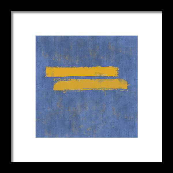 Equal Framed Print featuring the painting Equal by Julie Niemela