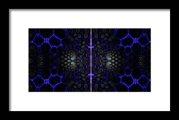 Fractal Framed Print featuring the digital art Edgel Match by Miles Gray