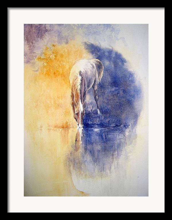 Horses Framed Print featuring the painting Equanimity by Barbara Widmann