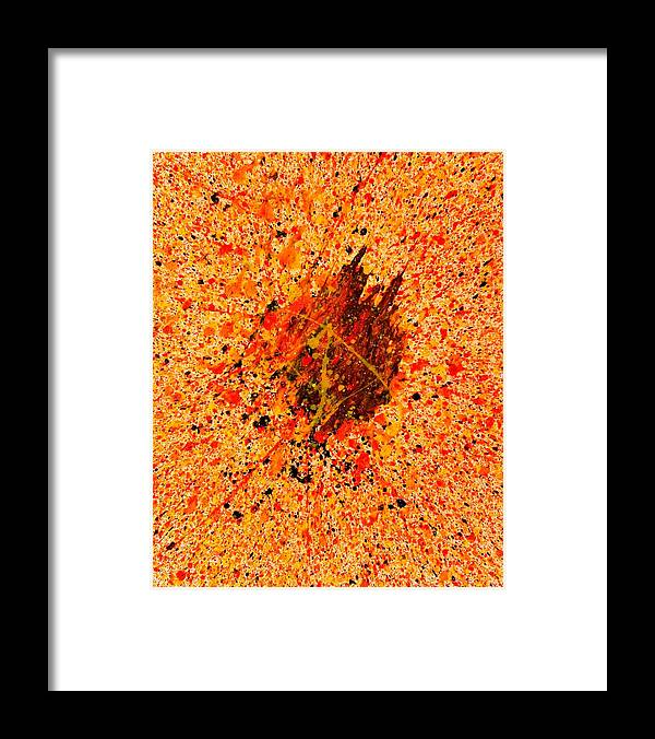 Abstract Framed Print featuring the painting Equation by Steven Dean
