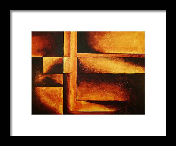 Modern Art Framed Print featuring the painting Equilibrio by Marco Solis