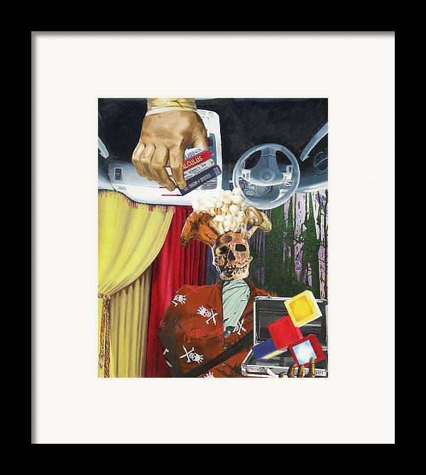 Contemporary Framed Print featuring the painting Equivocal 1 by David Corrigan
