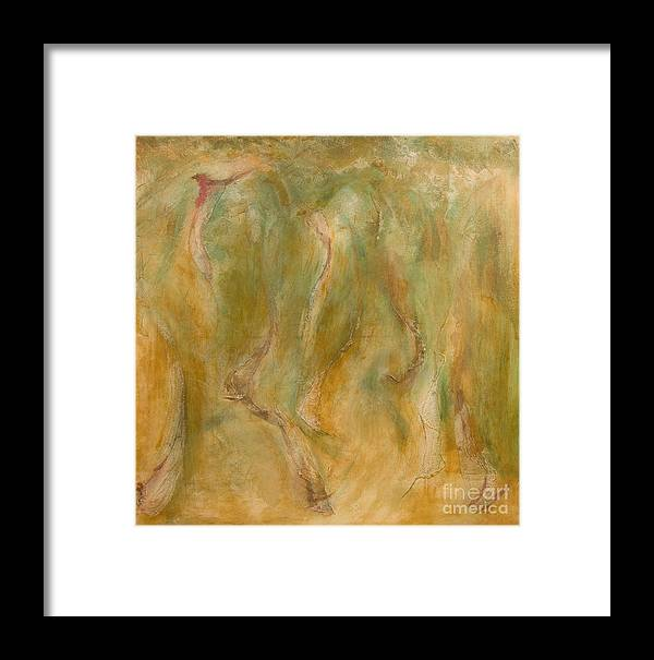 Abstract Framed Print featuring the painting Equos by Laura Warburton