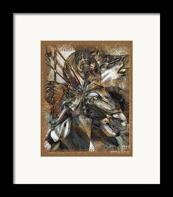 Horse Framed Print featuring the digital art Equus by Chuck Brittenham