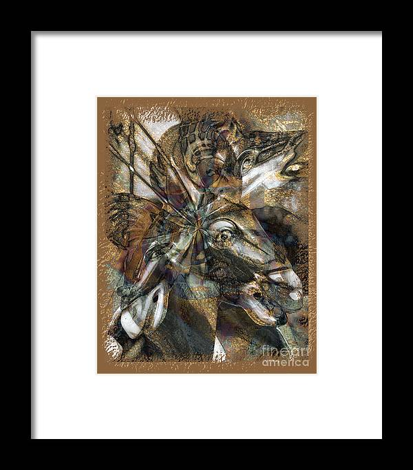 Horse Framed Print featuring the digital art Equus by Chuck Brittenham