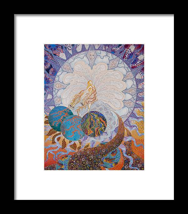 Illustrations Framed Print featuring the painting Erdenora by Ellie Perla