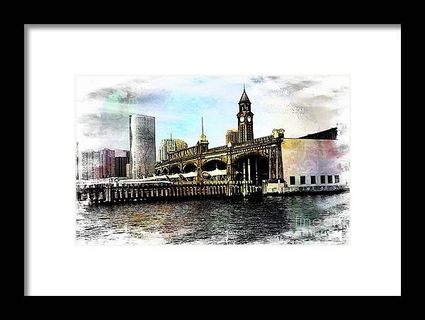 Digital Art Framed Print featuring the photograph Erie Lakawanna Ferry And Train Station by Sam Rino
