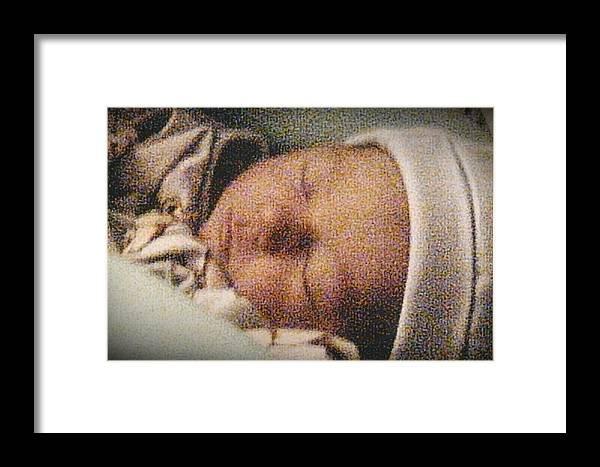 Photograph Framed Print featuring the photograph Erika Sleeping by Tara Kearce
