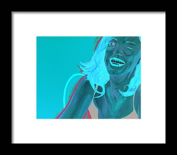 Red Head Framed Print featuring the painting Erin Winking by Kevin Callahan