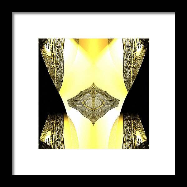 Digital Framed Print featuring the digital art Erleuchtet by Ilona Burchard