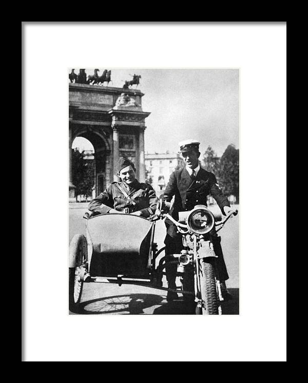 1918 Framed Print featuring the photograph Ernest Hemingway (1899-1961) by Granger