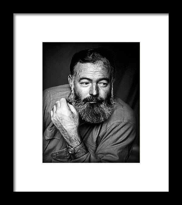 Hemingway Framed Print featuring the photograph Ernest Hemingway 1944 by Daniel Hagerman