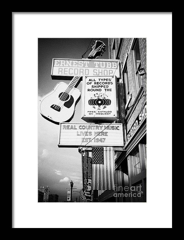 ernest tubbs record shop on broadway downtown Nashville Tennessee ...