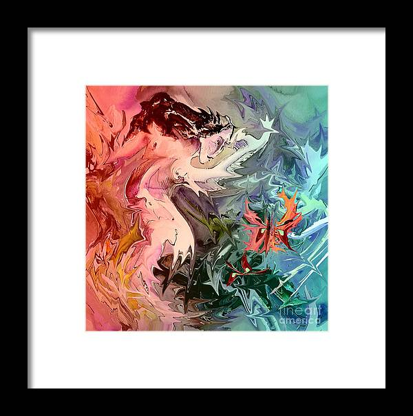 Miki Framed Print featuring the painting Eroscape 08 1 by Miki De Goodaboom