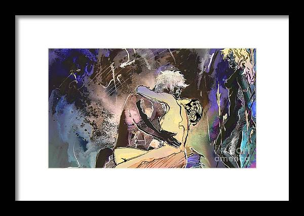 Miki Framed Print featuring the painting Eroscape 09 2 by Miki De Goodaboom