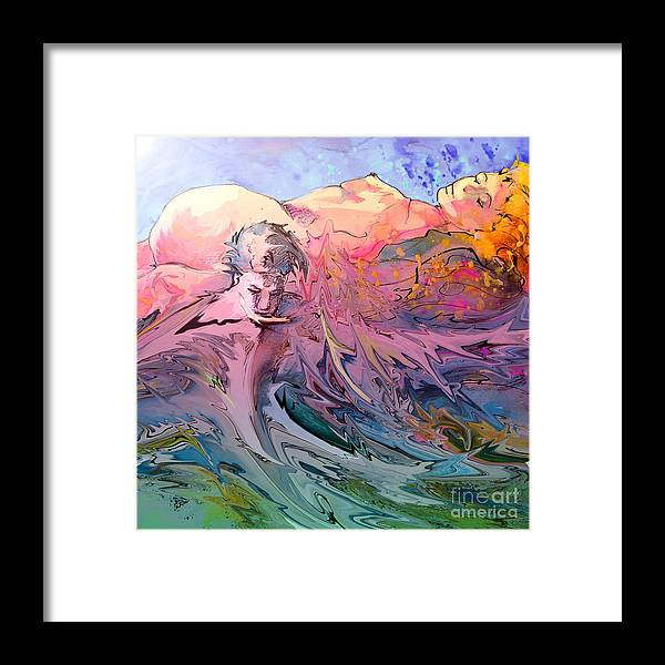 Miki Framed Print featuring the painting Eroscape 10 by Miki De Goodaboom