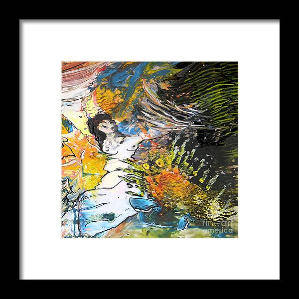 Miki Framed Print featuring the painting Erotype 07 2 by Miki De Goodaboom