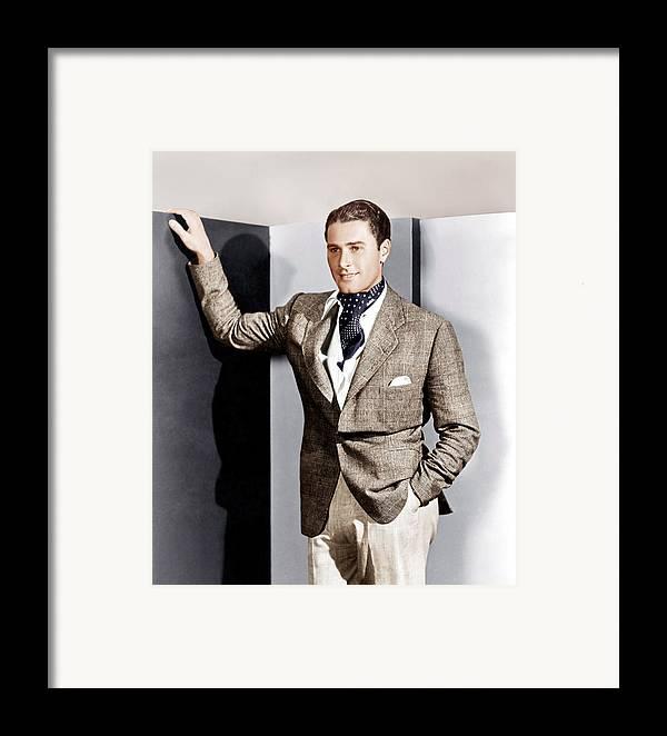 1930s Fashion Framed Print featuring the photograph Errol Flynn, Ca. 1930s by Everett