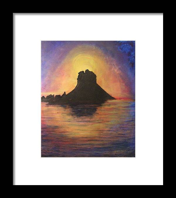 Sunset Framed Print featuring the painting Es Vedra Sunset I by Lizzy Forrester