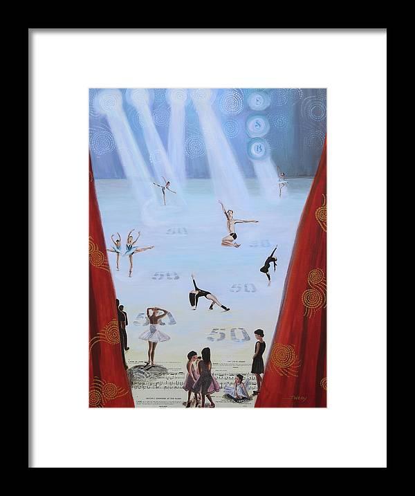 Ballet Framed Print featuring the mixed media Esb 50 by Johanna Wray