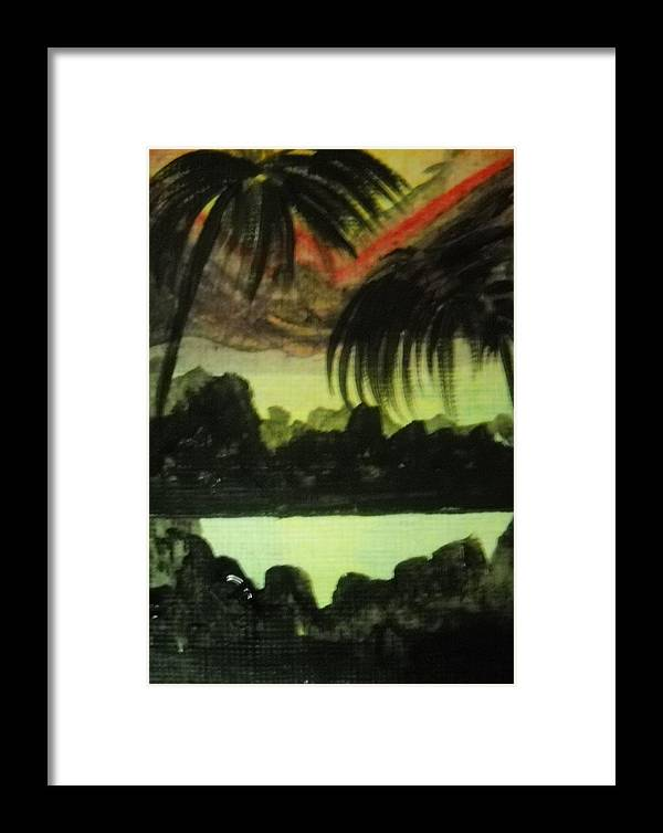 Landscape Framed Print featuring the painting Escalation by Kelly Turner