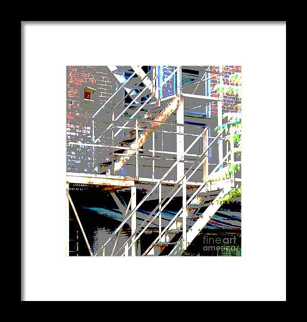 Stairs Framed Print featuring the photograph Escape 1 by Gary Everson