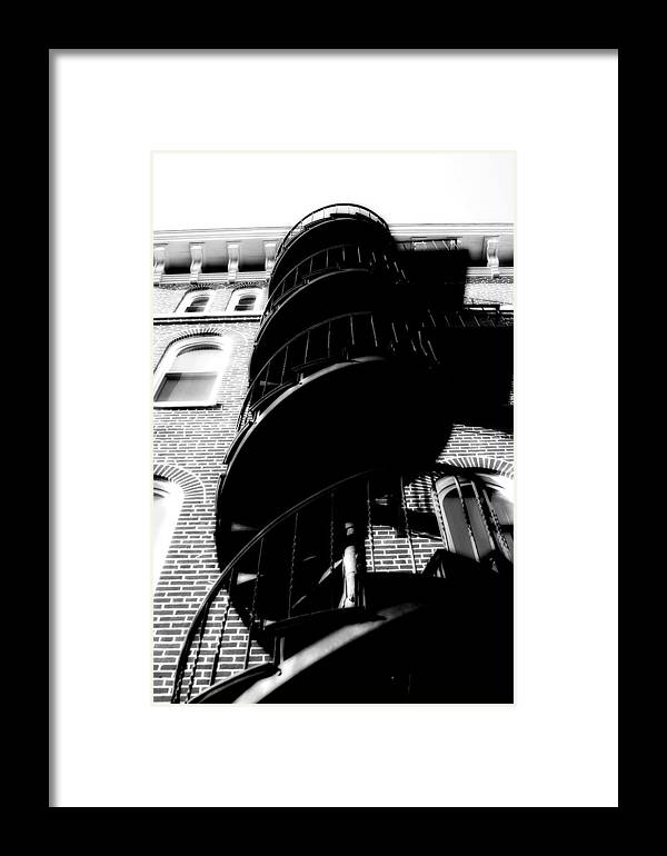 Fire Escape Framed Print featuring the photograph Escape by Carl Perry