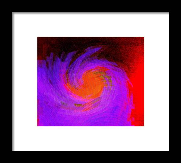Abstract Framed Print featuring the digital art Escape by Ian MacDonald