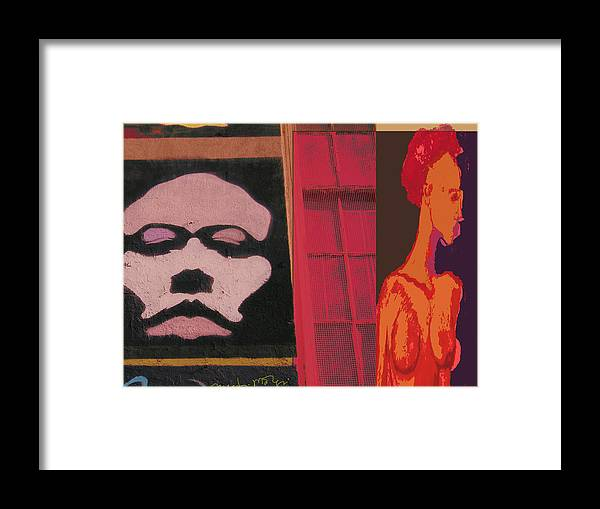 Poster Framed Print featuring the painting Escape II by Noredin Morgan
