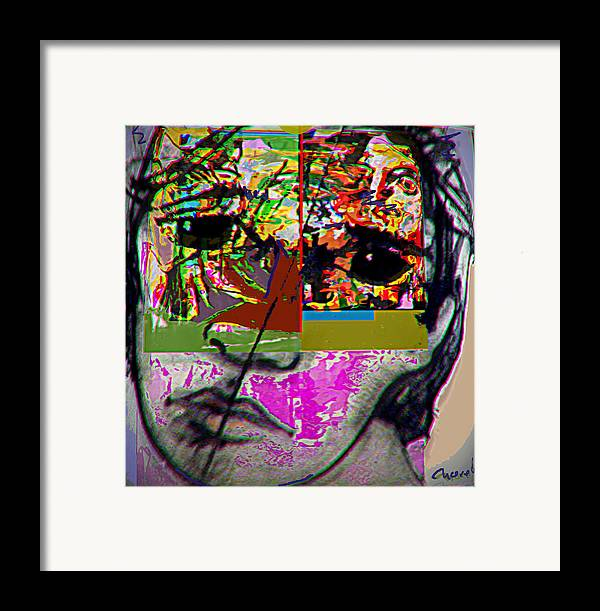 Drawing Framed Print featuring the drawing Escape by Noredin Morgan