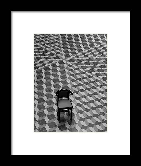 Chair Framed Print featuring the photograph Escher-like Chair by Jim DeLillo