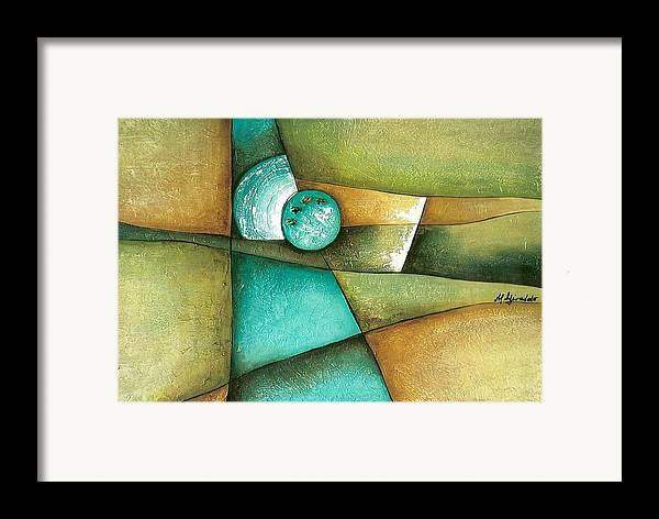 Contemporary Abstract Framed Print featuring the painting Esmeralda by Marta Giraldo