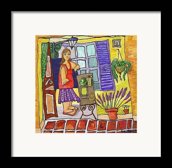 Still Life Framed Print featuring the painting Esmorzant En Provence by Xavier Ferrer