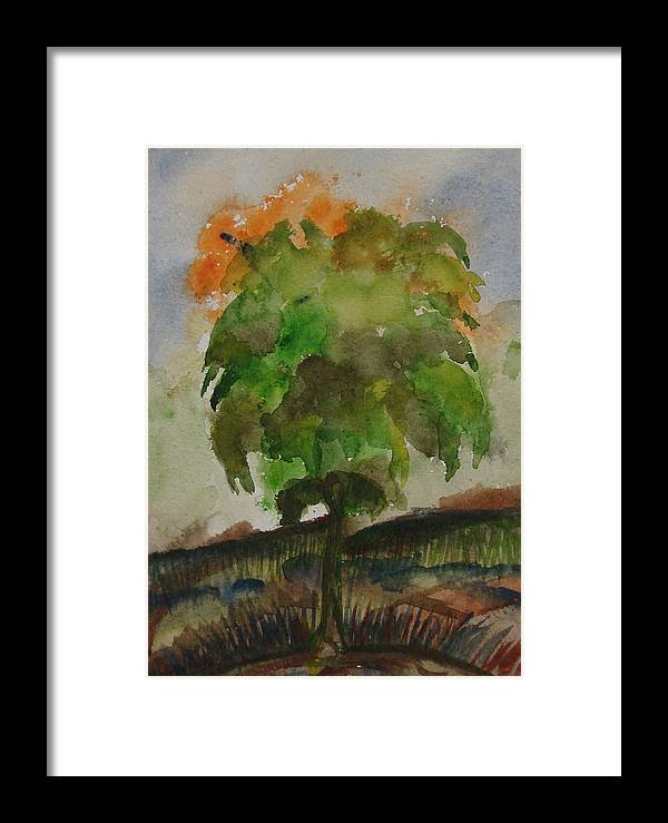 Tree Framed Print featuring the painting Esoteric Tree by Aim to be Aimless