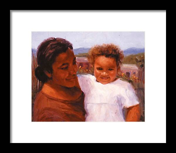 Mother Framed Print featuring the painting Esperanza by Bunny Oliver