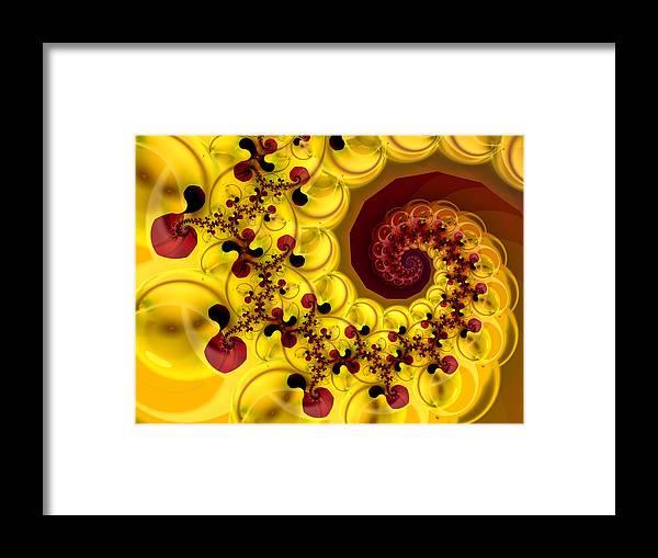 Fractal Framed Print featuring the digital art Esperanza by Vicky Brago-Mitchell