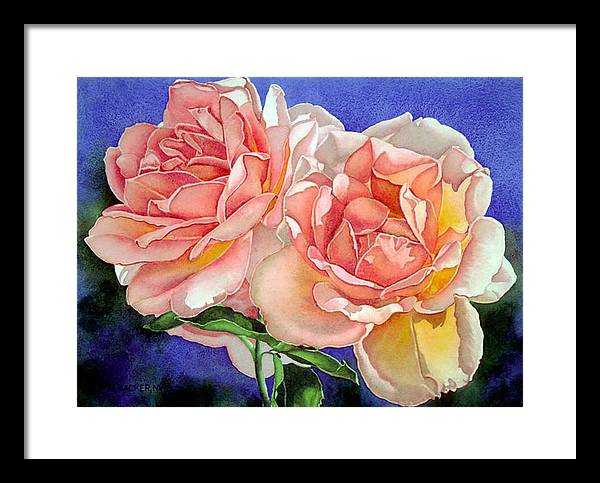 Floral Framed Print featuring the print Essence by Mary Backer