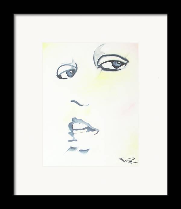 Essense Framed Print featuring the painting Essense by Joseph Palotas