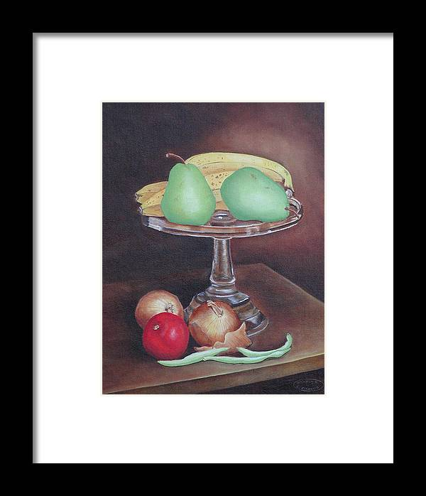 Still Life Framed Print featuring the painting Essentials by Sharon Steinhaus