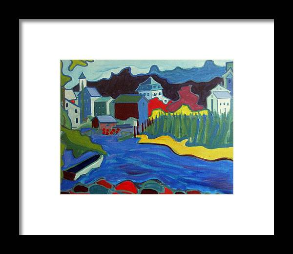 Essex River Framed Print featuring the painting Essex River by Debra Bretton Robinson