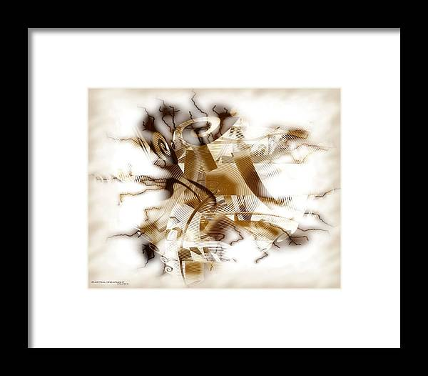 Abstract Framed Print featuring the digital art Establish by Dreamlight Creations