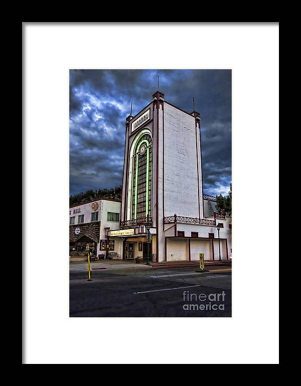 Estes Park Framed Print featuring the photograph Estes Park Theater by Michael Greiner