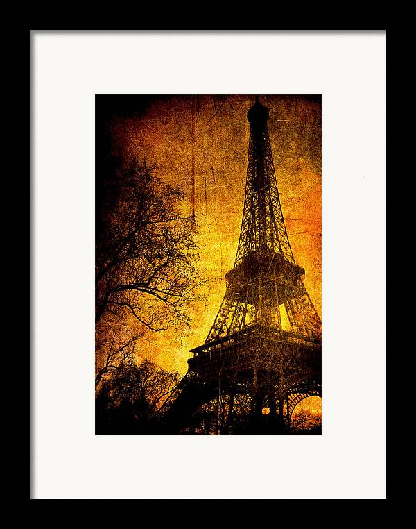 Eiffel Framed Print featuring the photograph Esthetic Luster by Andrew Paranavitana