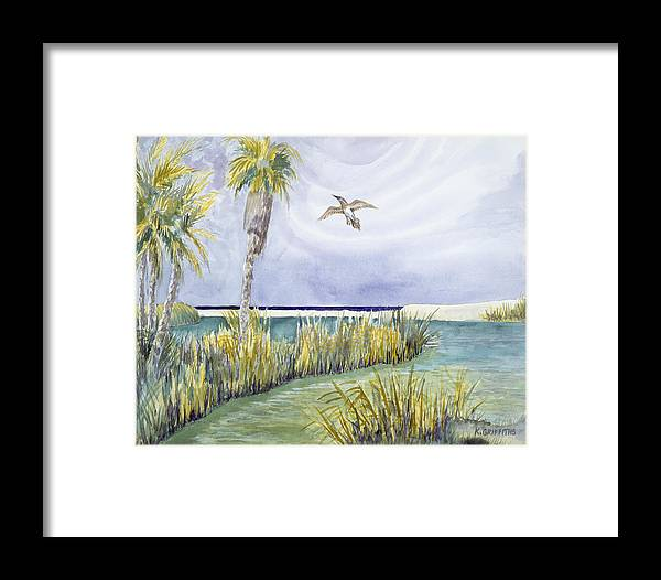 Estuary Framed Print featuring the painting Estuary by Karin Griffiths