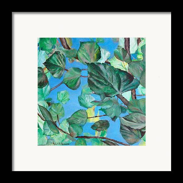 Floral Painting Framed Print featuring the painting Ete by Muriel Dolemieux