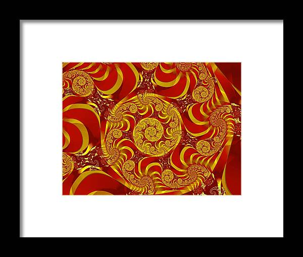 Fractal Framed Print featuring the digital art Eternal 3 by Vicky Brago-Mitchell