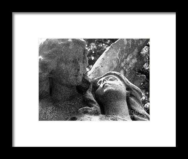 Statue Framed Print featuring the photograph Eternal Flight Detail by Elizabeth Donald